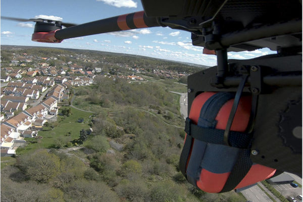 Drones are delivering FRED easyport defibrillators