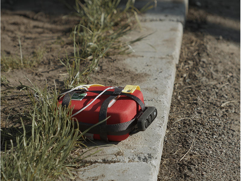 The FRED easyport plus is dropped at the site of a cardiac emergency.